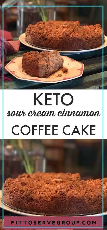 Keto Sour Cream Cinnamon Coffee Cake