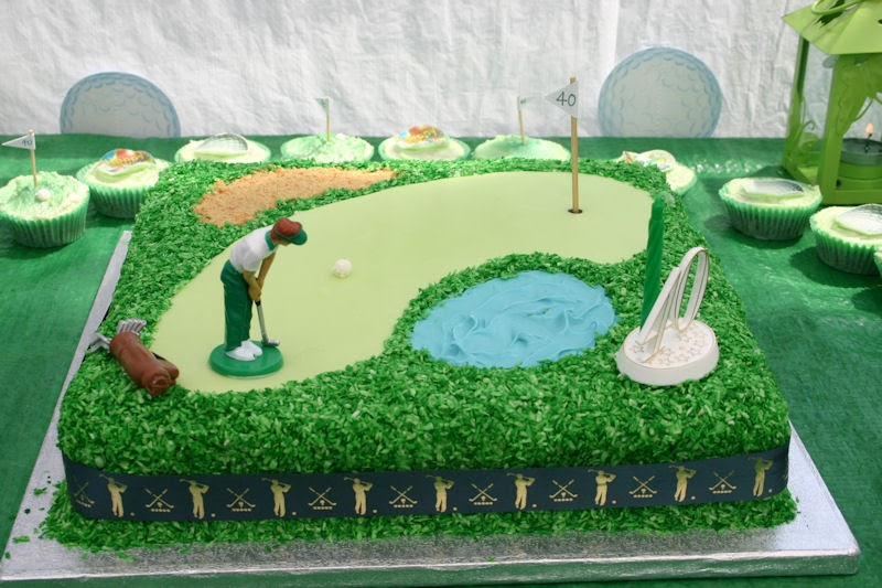 Flour Power Cake Journey Golf Themed Cake