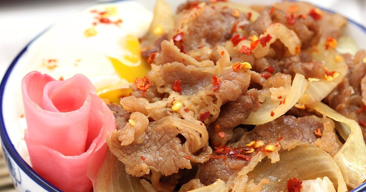Gyudon / Japanese beef rice bowl