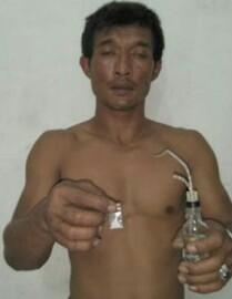 Tersangka narkoba di Asahan.