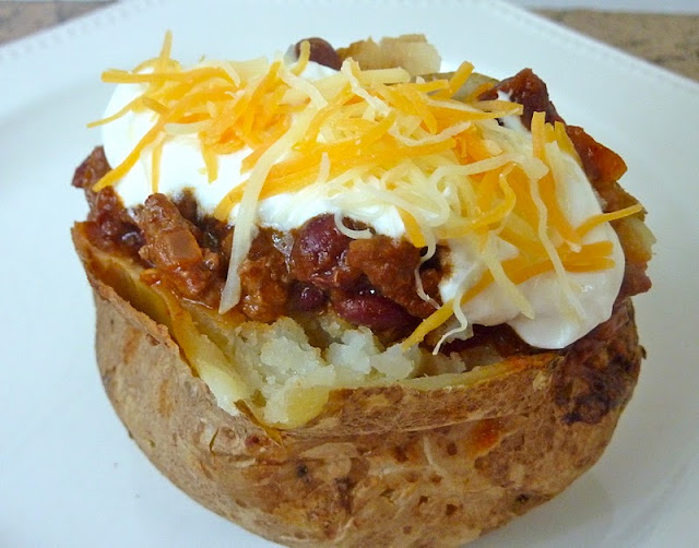 Beurrista Chili Topped Baked Potato