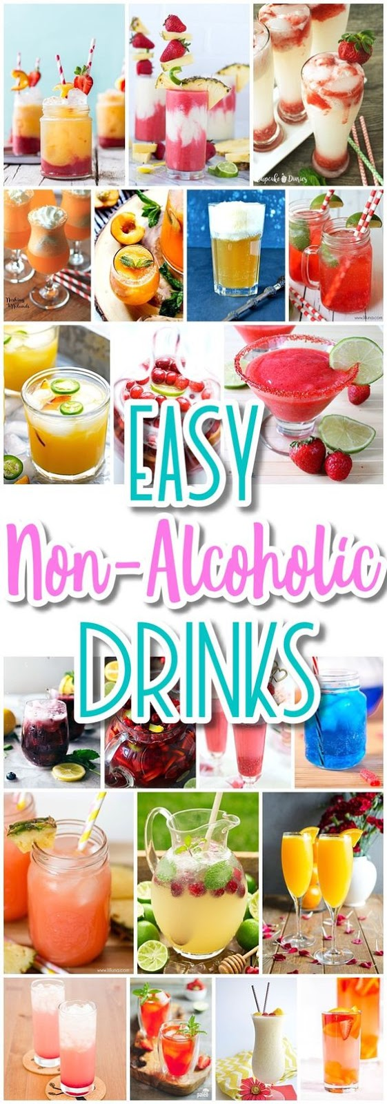 The BEST Easy Non-Alcoholic Drinks Recipes – Creative Mocktails and Family Friendly