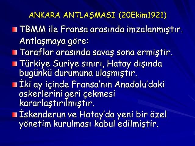 Ankara Antlaşması 1921
