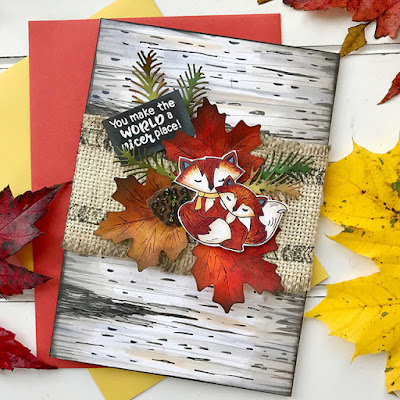 You make the world a nicer place by Bobbi features Fox Hollow, Beautiful Leaves, Pines & Holly, Adventure Awaits, and Thankful Thoughts by Newton's Nook Designs; #newtonsnook