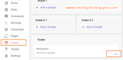 How To Remove Powered By Blogger Attribution 1