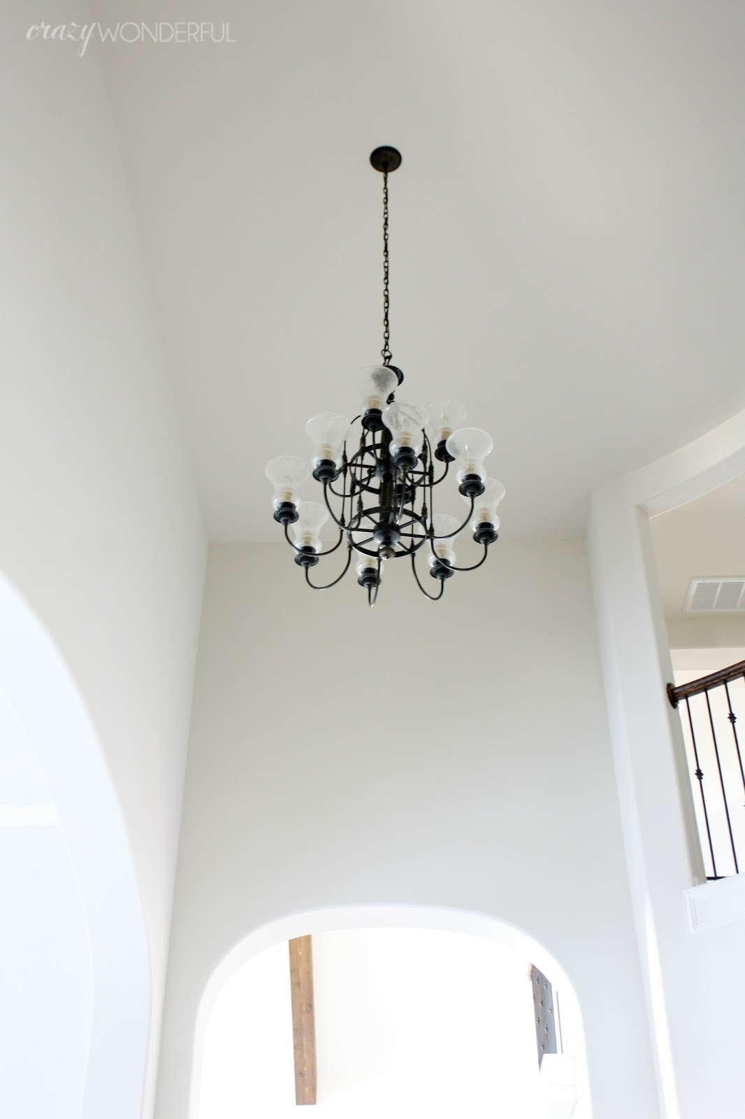 For christmas my husband had me a pick out a new chandelier for the entry way and i couldnt be more ecstatic so long sucka heres what i chose