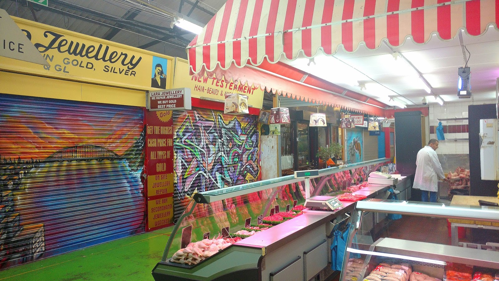 Tooting Market, which is a key food .hub for the local community.
