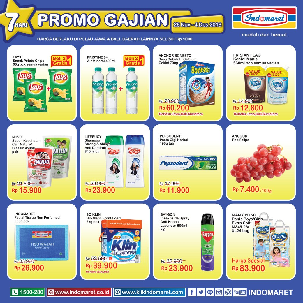 Indomaret - Promo Katalog GAJIAN Periode 28 - 04 Desember 2018