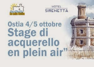 Ostia Stage acquerello