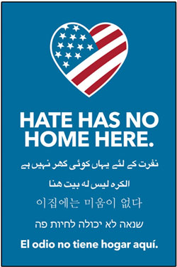 Though Hate itself has NO Home here...