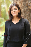 Actress Hebah Patel Stills in Black Mini Dress at Angel Movie Teaser Launch  0090.JPG