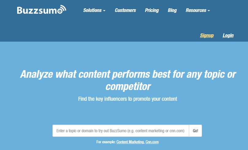 BuzzSumo Blog Topic Content Title Generator