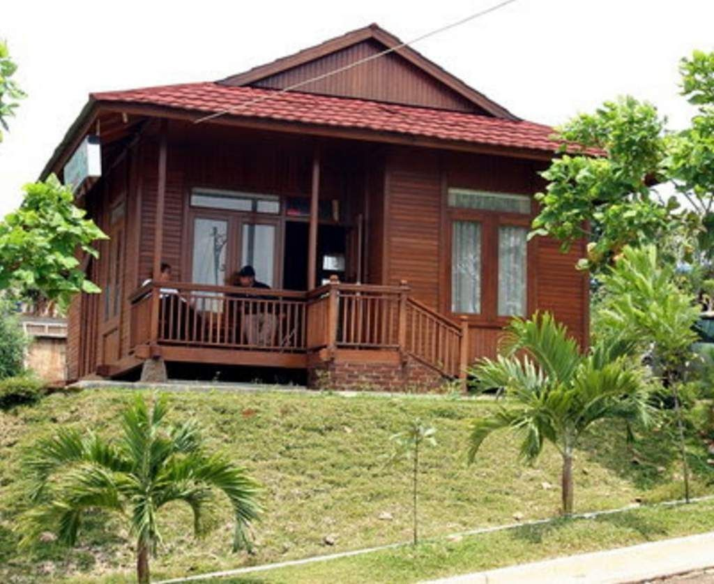 desain rumah kayu puncak banyak disukai