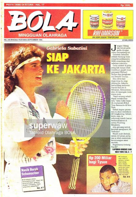 Gabriela Sabatini SIAP KE JAKARTA