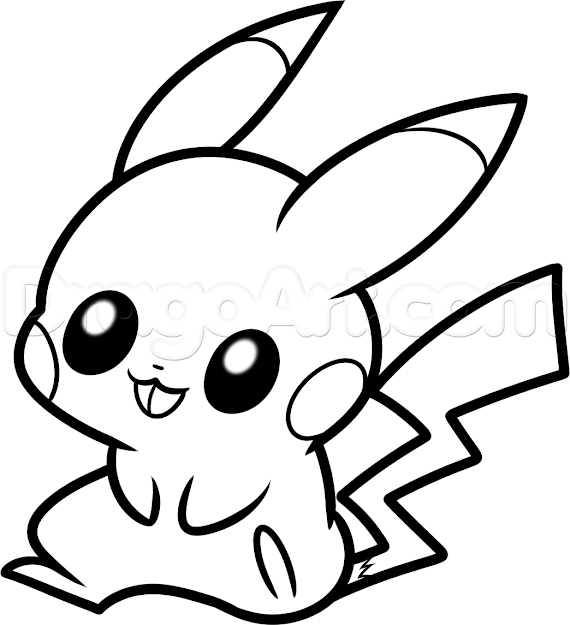 Gorgeous Baby Pokemon Coloring Pages How To Draw Baby Pikachu Step By  Pokemon Characters Anime With