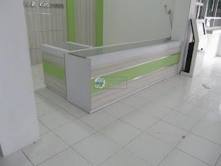 Furniture Interior Ruang Lobby Kantor - Meja Front Desk Granit - Furniture Semarang