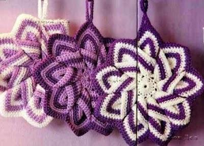 Estrella con cadenetas de 9 puntas en crochet
