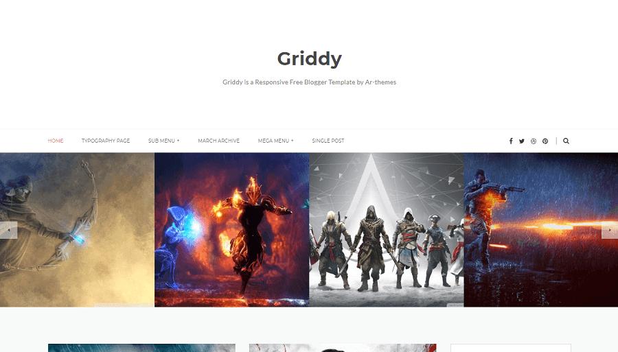 Griddy v1.0 - Responsive Blogger Template