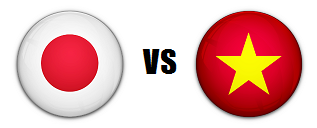 Japan versus Vietnam AFC Quarterfinals match