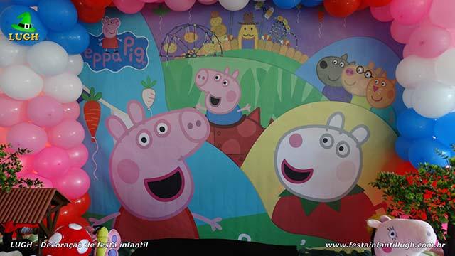 Decoração infantil Peppa Pig - Decoração de aniversário infantil