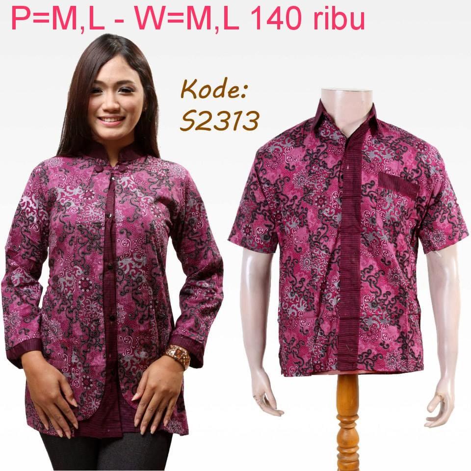 Model Baju Batik Terbaru: Baju Couple Batik Modern Model Terbaru