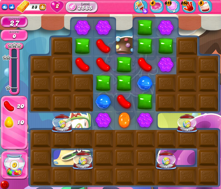 Candy Crush Saga level 2565