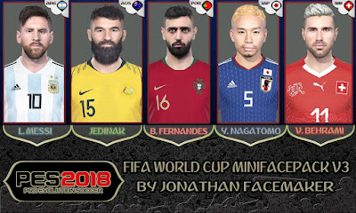 PES 2018 Mini Facepack World Cup 2018 v3 by Jonathan Facemaker