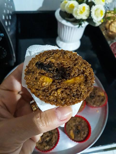 muffin de maçã fit