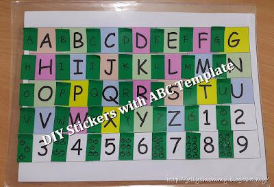 ABC Templates, sticker, free
