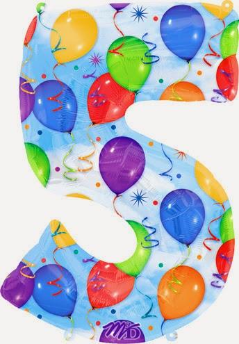 Фольгированный шарик цифра разноцветная
