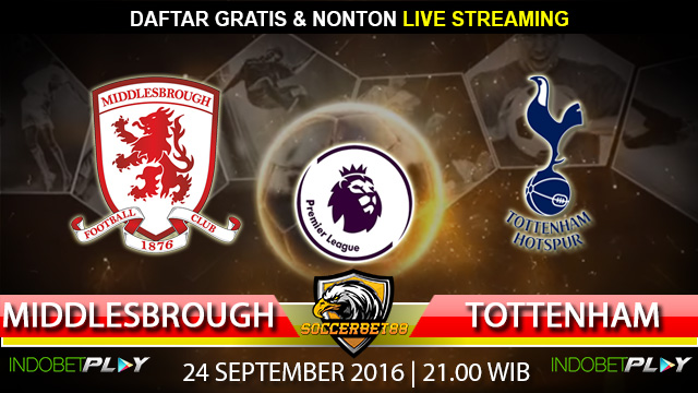 Prediksi Middlesbrough vs Tottenham 24 September 2016 (Liga Inggris)