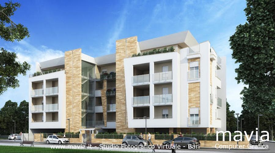 Esterni 3d rendering 3d architettura 3d edificio for Architettura 3d