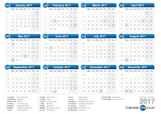 Kalender 2017 Lengkap Hari Libur Nasional dan Cuti Bersama