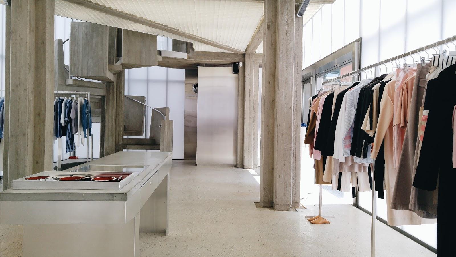 beyunique interior design acne studios flagship store. Black Bedroom Furniture Sets. Home Design Ideas