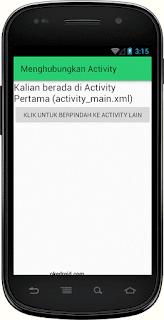 Hasil Aplikasi Actvity 1 Android