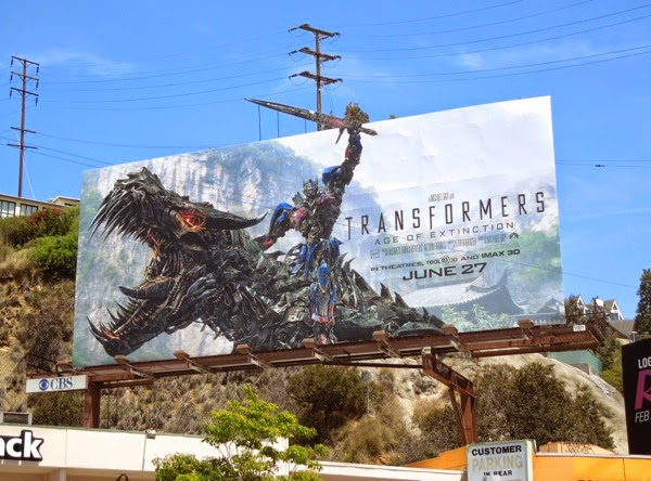 Transformers Age of Extinction extension billboard