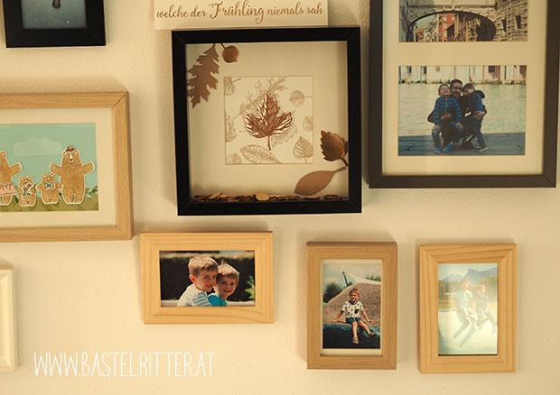 vintage leafes kupfer copper stampin up bastelritter fotowand