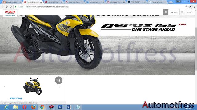 website cara Pesan Yamaha Aerox 155 VVA