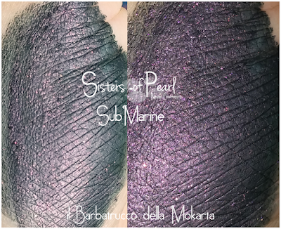 Submarine eyeshadow swatches Sisters Of Pearl  Neve Cosmetics