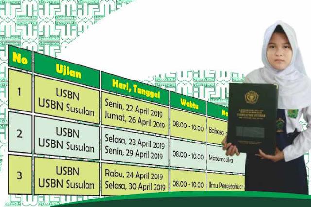 Jadwal USBN SD/MI 2019