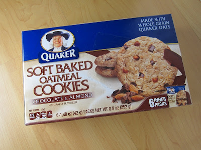 Review Quaker Chocolate And Almond Soft Baked Oatmeal Cookies Brand Eating
