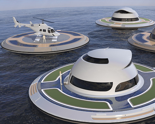 Tinuku Houseboat named Unidentified Floating Object (UFO) powered electrically by Italian company Jet Capsule