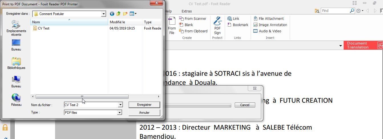 reduire taille cv en pdf