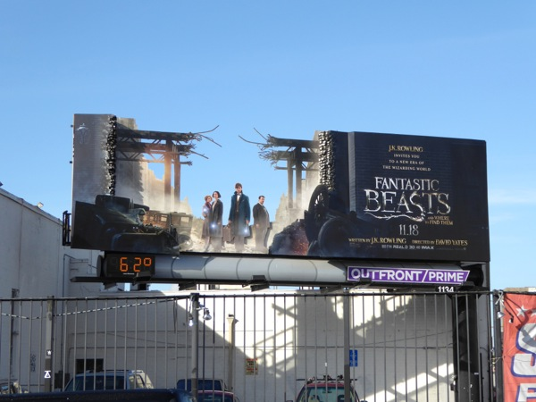 Fantastic Beasts special installation billboard
