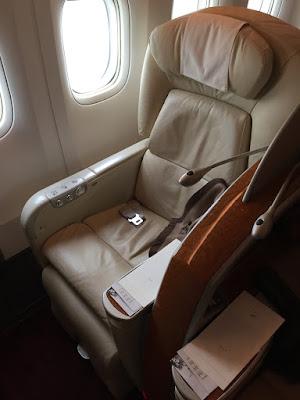 2015年10月に搭乗したJAL914:東京行きファーストクラス