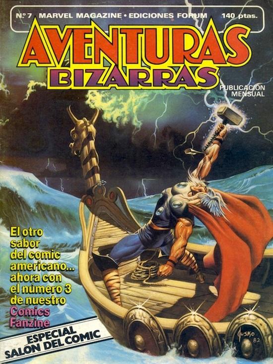 Portada del #7 de la edición española de BIzarre Adventures, obra de Joe Jusko