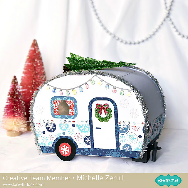 3D Paper Christmas Camper Trailer by Michelle Zerull with Echo Park Paper Celebrate Winter