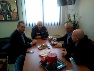 Επίσκεψη του τομέα Δικαιοσύνης της ΝΟ.Δ.Ε. Πιερίας στην Αστυνομική Διεύθυνση