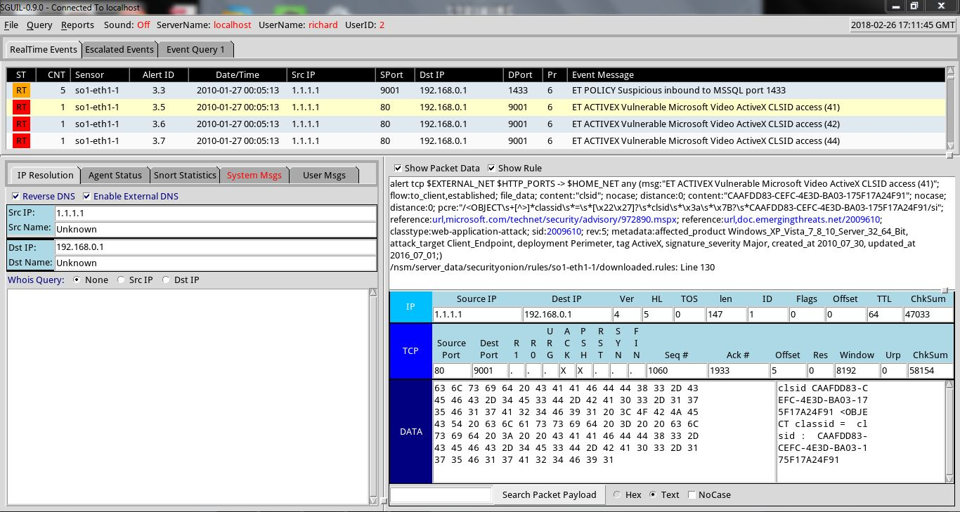TaoSecurity: Importing Pcap into Security Onion