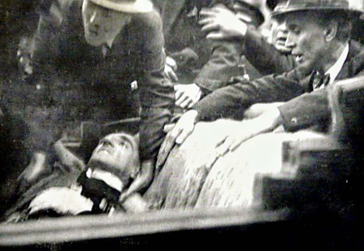 Alexander died in the car, slumped backwards in the seat, with his eyes open. Barthou was badly wounded in the arm but died later due to inadequate medical treatment.